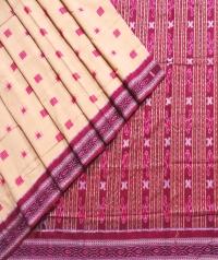 7444/381 SACHI SAKTA REKHA Sambalpuri Cotton Saree