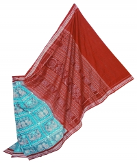 7444/1099 Sambalpuri Cotton Saree