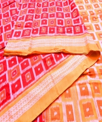 7444/1206 Sambalpuri Cotton Saree