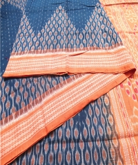 4414 ATASHI Sambalpuri Handwoven Cotton Saree