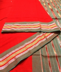 1213 REKHA BUTI (F) sambalpuri Handwoven Cotton Saree