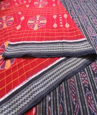 7444 BAGHAMBARI Sambalpuri Handwoven Cotton Saree