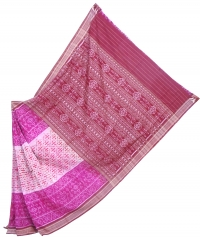 7444 ATASHI (F) Sambalpuri  Handwoven Cotton Saree