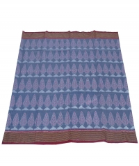 Gray and maroon sambalpuri handloom cotton saree