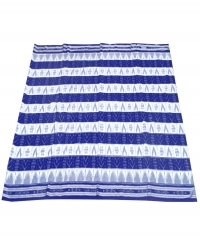 Blue and white sambalpuri handloom cotton saree