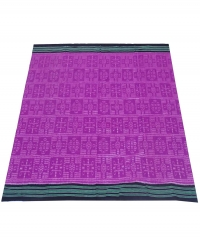 Magenta and black sambalpuri handloom cotton saree