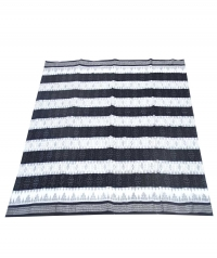 White and black sambalpuri handloom cotton saree