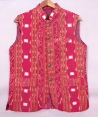 Red sambalpuri cotton jacket