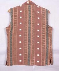 Chestnut brown sambalpuri  cotton jacket