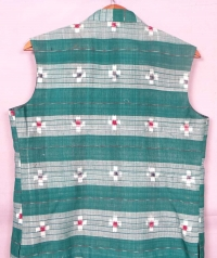 Green sambalpuri cotton jacket
