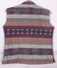 Black and gray sambalpuri cotton jacket