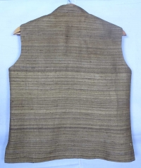 Umber brown tussar jacket