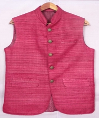 Red tussar jacket