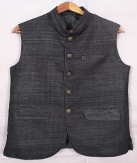 Black tussar jacket
