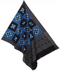 Blue black sambalpuri handloom cotton dupatta