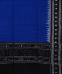 Navy blue black sambalpuri handloom cotton dupatta