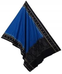 Egyptian blue black sambalpuri handloom cotton dupatta