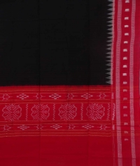 Black red sambalpuri handloom cotton dupatta