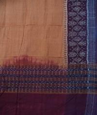 Brown maroon sambalpuri handloom cotton dupatta