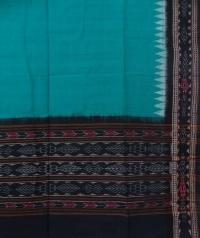 Green black sambalpuri handloom cotton dupatta