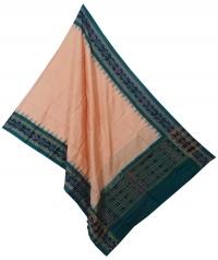 Tan brown green sambalpuri handloom cotton dupatta
