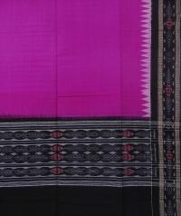 Purple black sambalpuri handloom cotton dupatta