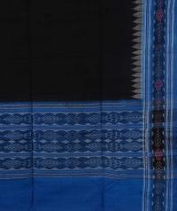 Black blue sambalpuri  handloom cotton dupatta