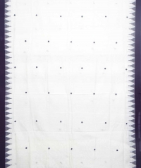 White black kotpad handloom saree