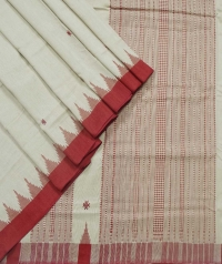 Off white red kotpad handloom saree