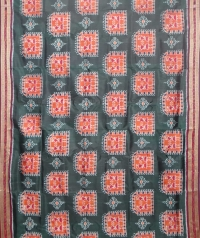 Bottle green and maroon  khandua silk saree