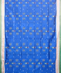 Azure blue and green  khandua silk saree