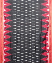 Black and red  khandua silk saree