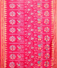 Pink khandua silk saree