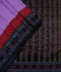 Ultra pink and black new sambalpuri silk saree