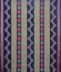 Tortilla and maroon  sambalpuri silk saree