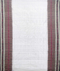 White and black  sambalpuri silk saree