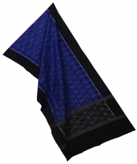 Blue black sambalpuri handloom cotton stole