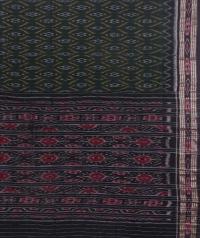 Green and black sambalpuri handloom cotton saree