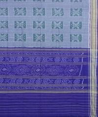 Gray and violet sambalpuri handloom cotton saree