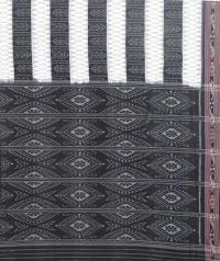 White and black sambalpuri handloom cotton saree