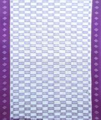 White and purple sambalpuri handloom cotton saree