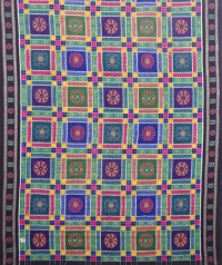 Multi colour sambalpuri handloom cotton saree