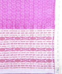 Purple and cream khandua  silk saree