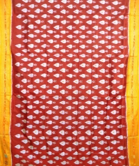 Ruby pink and yellow khandua  silk saree