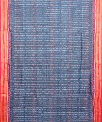 Yale blue and red  khandua silk sare
