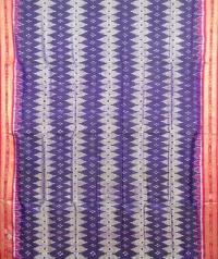 Blue and red khandua silk saree