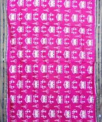 Magenta and black khandua silk saree