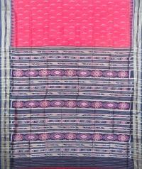 Red and black khandua silk saree