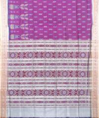 Purple and cream khandua  silk saree