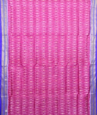Magenta and azure blue khandua silk saree